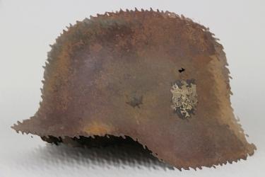 Heer M42 single decal camo helmet