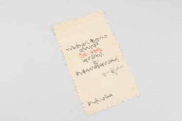 Joseph Goebbels - signed document