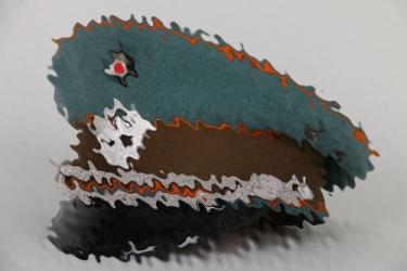 Third Reich Gendarmerie EM/NCO visor cap