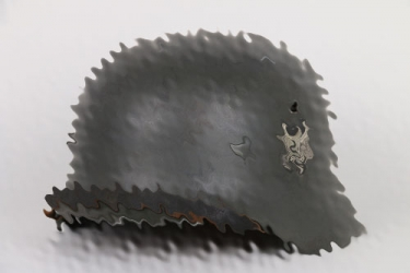 Personal M35 double decal helmet of Generaloberst List