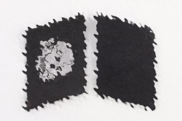 """Waffen-SS """"Totenkopf"""" collar tabs - flatwire"""