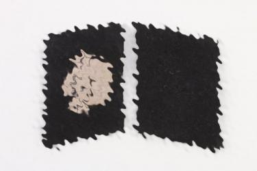 """Waffen-SS """"Totenkopf"""" collar tabs - EM"""