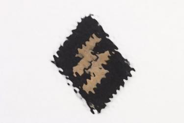 Waffen-SS EM/NCO's rune tab + RZM tag