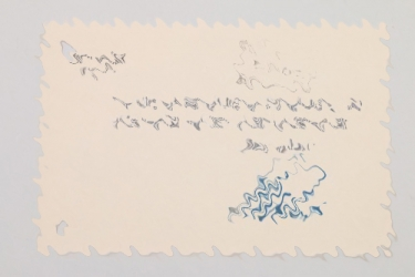 Gauleiter Bürckel - signed birthday card