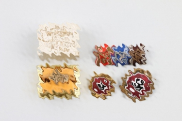 """Early """"425"""" numbered NSDAP Golden Party Badge grouping"""