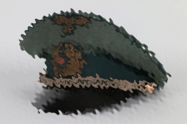 Kriegsmarine Küstenartillerie officer's crusher cap