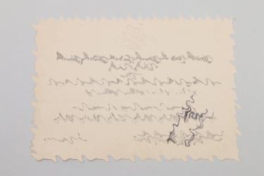 Hermann Göring - signed invitation card