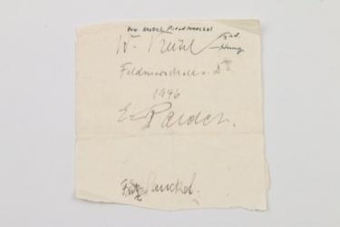 Nuremberg Trials autograph - Keitel, Raeder, Sauckel