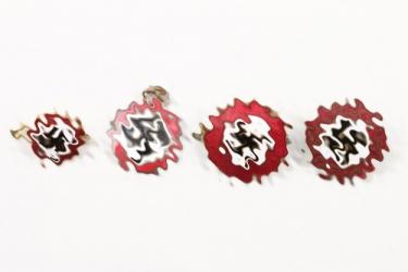 4 early NSDAP patriotic badges