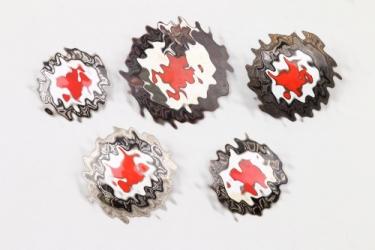 Lot of DRK enamel badges