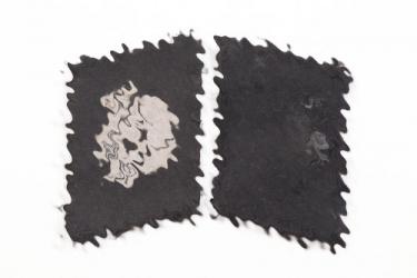 "Waffen-SS ""Totenkopf"" EM/NCO collar tabs - Bevo"