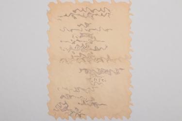 NJG 101 Hans Graf signed promotion document