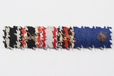 Third Reich 6 place ribbon bar to WW1 veteran