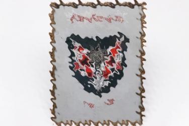 Heer flag bearers sleeve badge for officer's - Artillery hand embroidered in frame