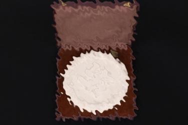 Third Reich R.D.K. ceramics plaque in case