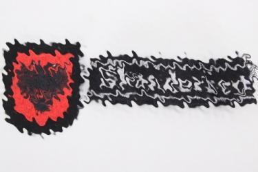 Waffen-SS SKANDERBEG cuff-title & sleeve badge