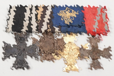 Third Reich police 4-place medal bar