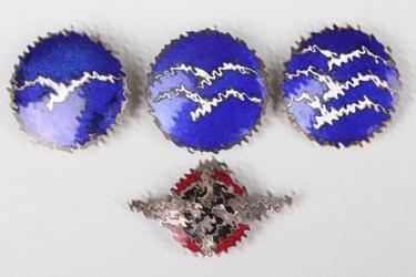 4x Third Reich DLV/NSFK enamel badges
