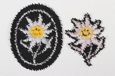 Waffen-SS field cap & sleeve Edelweiss - EM/NCO