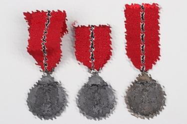 3x East Medals on original ribbon