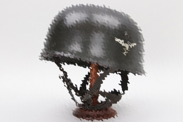 Luftwaffe M38 paratrooper helmet - named