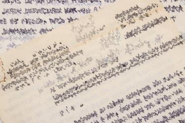 Writing of former SS-Ogruf und Generals der Waffen-SS Karl Wolff