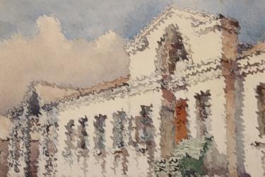 "Max Schneider - ""Unser Revier in Mariupol"" painting"