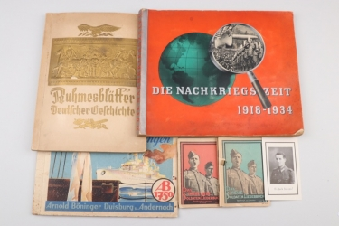 Third Reich lot of cigaret card albums & more