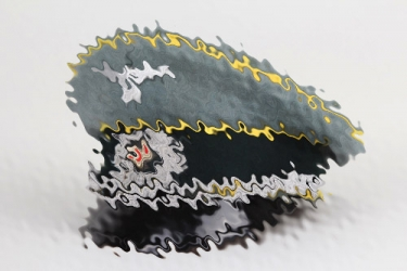 Heer Signals officers visor cap SCHELLENBERGER