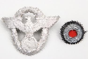 Third Reich police visor cap insignia