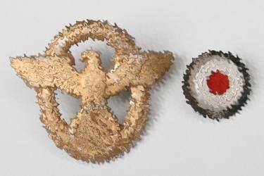 Third Reich Wasserschutzpolizei  visor cap eagle + cockade