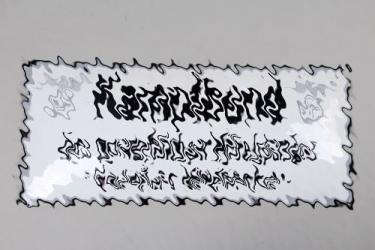 Third Reich enamel sign Kampfbund des gewerblichen Mittelstandes - Gauleitung Mittelfranken