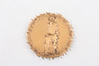 Third Reich bronze coin DEUTSCH IST DIE SAAR 1935