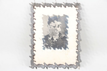 Framed portrait photo Infanterie Feldbwebel