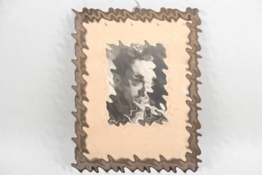 Framed portrait photo Wehrmacht Unteroffizier