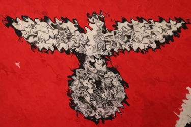 """Third Reich large """"Reichsdienstflagge - 3.85 x 2.30 m"""