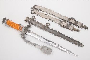 Heer officer's dagger with hangers & portepee - Hörster