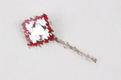 Third Reich enamel swastika pin