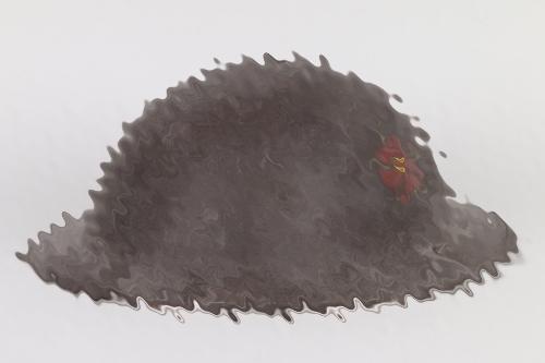 British MKII helmet with painted emblem