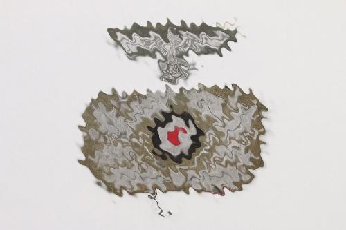 Heer officer's cap insignia for crusher cap