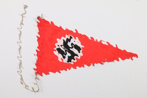 Third Reich swastika table pennant
