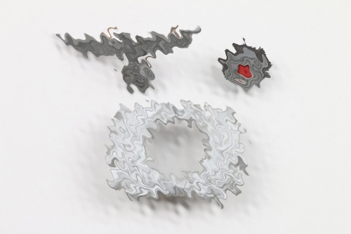 Third Reich customs visor cap insignia