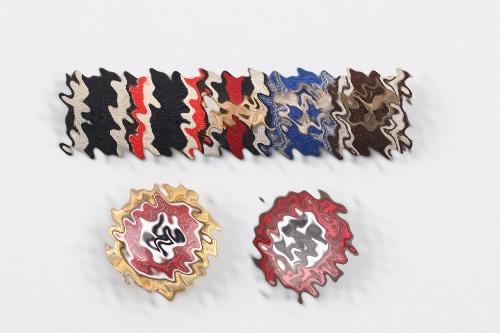 NSDAP A.H. Golden Party Badge grouping