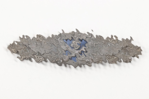 SS-Ostuf. Hubbes - Close Combat Clasp in silver