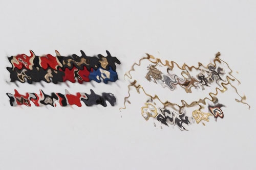 1957-type lot of ribbon bars & miniature chains