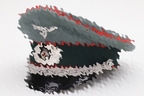 "Heer Artillerie officer's visor cap - EREL ""Frischluft"""