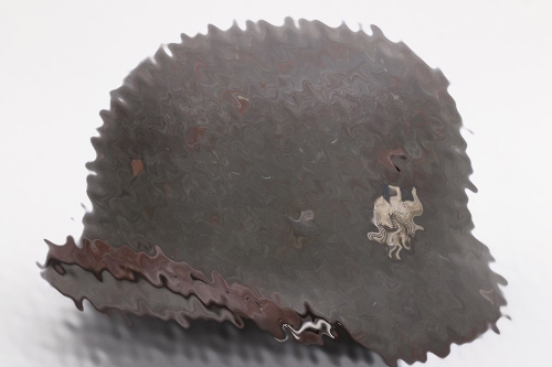 "Heer M35 double decal ""zimmerit"" camo helmet - SE66"