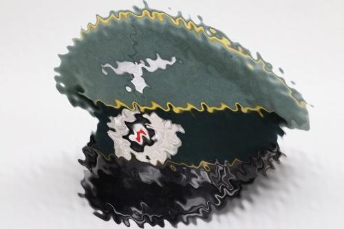 Heer Nachrichten visor cap - EM/NCO