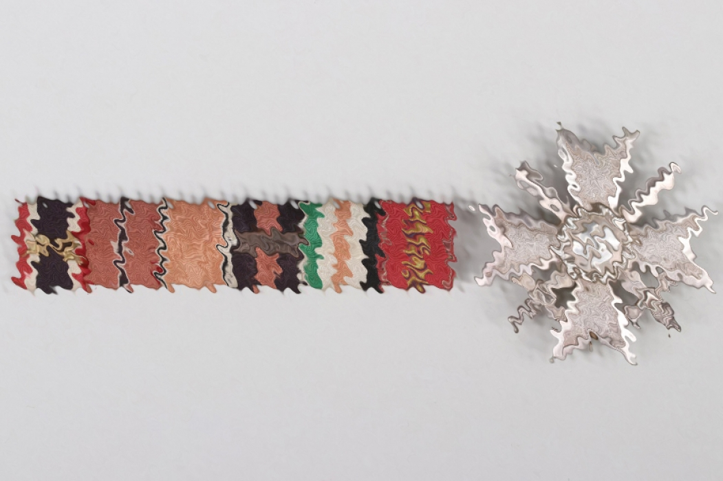 1939 War Merit Cross 1st Class & 6-place ribbon bar