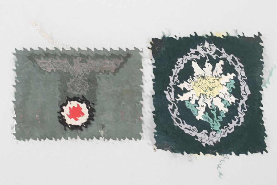 Heer Gebirgsjäger Edelweiss & field cap badge